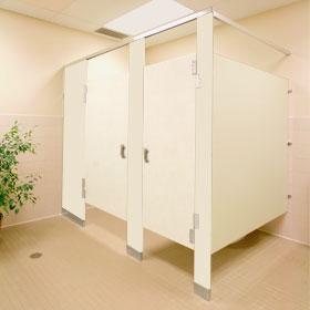 Toilet Partitions Plastic Laminate Line Utilizes High Pressure - Phenolic bathroom partitions