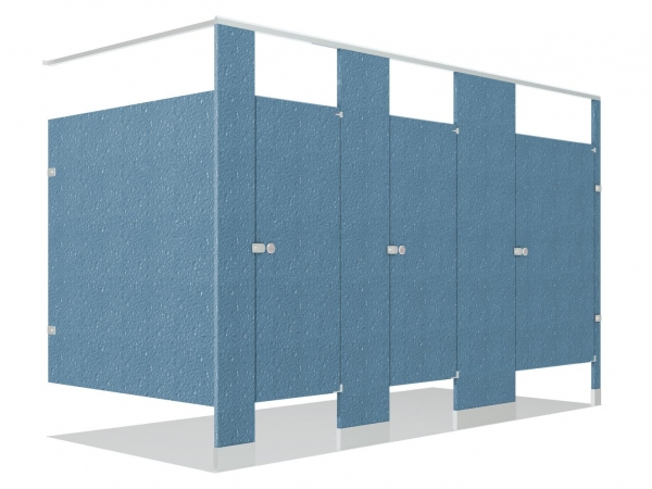 ColorThru Solid Phenolic Core Toilet Partitions - Solid plastic bathroom partitions